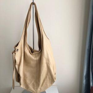 Roots leather shoulder bag